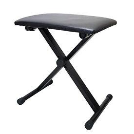 SYMPHA 少し低め キーボードイス 折りたたみピアノ椅子 / 3段高さ調整 折り畳み椅子