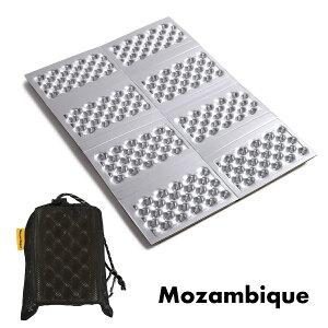 Mozambique(モザンビーク) アウトドア マット 登山 キャンプ 座布団 アルミ レジャーマット コンパクト 折りたたみシート