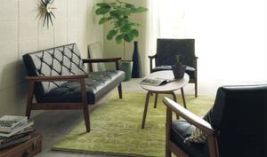 【10/15までP10倍】 カリモク 合成皮革ソファー WS11 3点セット (1Px2 2P) 日本製 家具のよろこび 【店頭受取対応商品】