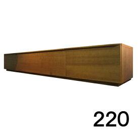 【4月下旬お届け】 テレビボードMV 220 1段タイプ ブラックチェリー色 天板&側面ツキ板ver. 家具のよろこび 【店頭受取対応商品】