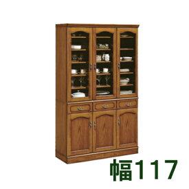 【11/15までP10倍】 カリモク 食器棚 幅117 EC4080NK ブナ 送料無料 家具のよろこび 【店頭受取対応商品】