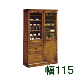 【11/15までP10倍】 カリモク 食器棚 幅115 EC4370NK ブナ 送料無料 家具のよろこび 【店頭受取対応商品】