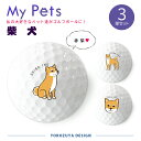 【送料無料キャンペーン中!】【定型デザイン】My Petsゴルフボール 3球 (柴犬(赤柴)) 《おもしろ メッセージ ゴルフ ギフト 父の日 母の日 七五三 御歳暮 冬ギフト》