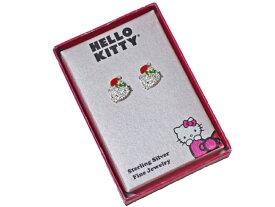 Hello Kitty サンリオ ハローキティ ラインストーン シルバー 925 ピアス アメリカ定価$150+税金の品物!