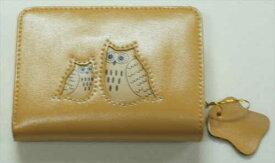 幸せの黄色いフクロウ ガマグチ財布