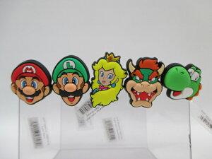 crocs クロックス ジビッツ チャーム Super Mario スーパーマリオ 10007478 Luigi ルイージ 10007479 Princess Peach ピーチ姫 10007480 Bowser バウザー クッパ 10007481 Yoshi ヨッシー 10007482 正規品