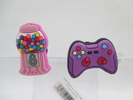 crocs クロックス ジビッツ チャーム 10007580 Gumball Machine ガムボールマシーン 10007388 Purple Game Controller パープルゲームコントローラー 正規品