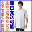 白衣 男性用、男子ドクターケーシー型横掛け白衣 半袖132-30【P20/20171120】