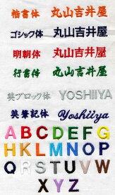 刺しゅう入れ加工アルファベット、9〜16文字まで【】
