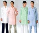白衣 プリンセスライン&優しい衿の薬局衣ドクターコート/女性用ダブル型白衣EM3025【】