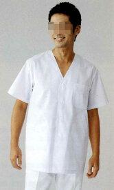白衣 男性用、黄色ブドウ球菌他の増殖を抑制する素材男子調理衣白衣 衿なし 半袖C151【】
