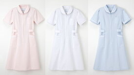 白衣 【送料無料】女性用、心が和らぐナースワンピース白衣/半袖 ナガイレーベン MI4637【】