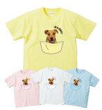 【5,000円(税抜)以上で送料無料】WE LOVE PETペット写真入りTシャツ ポケットデザインタイプ