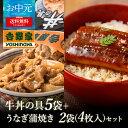 吉野家 冷凍牛丼の具 5袋+うなぎ蒲焼き 2袋4枚 のし対応