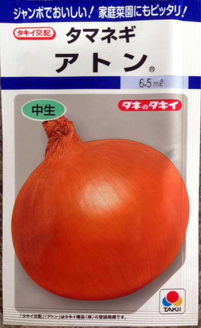 アトン 玉ねぎ種子 6.5ml 中生種 小袋種子 【郵便送料110円〜】【タキイ種苗】【野菜種子】
