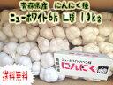 【予約商品】送料無料 青森県産ニンニク種子 ニューホワイト6片 Lサイズ(kg‥12個〜14個) 10kg(1kg×ネット詰…