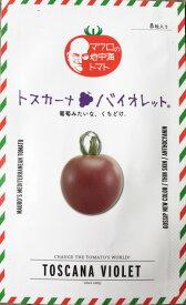 マロウの地中海トマト トスカーナバイオレット ミニトマト種子 8粒【イタリアトマト】【野菜の種】