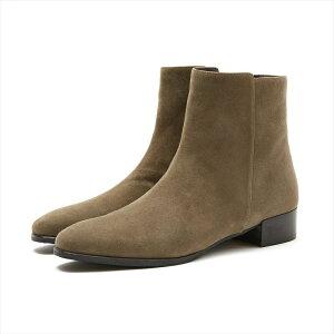 レインブーツ防水撥水雨靴公式YOSHITOヨシトよしとOR6052R感動本革革インポートレザー晴雨兼用梅雨秋雨ラバーソールローヒール外反母趾幅広軽い人気スエードスムース柔らかい