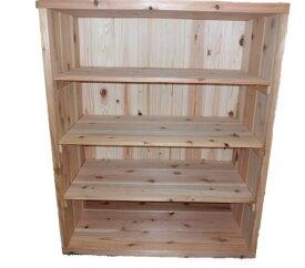 国産杉シューズボックス:幅750×奥行375×高さ920ミリ。側板の厚みは安心の30ミリ!カップボードとしても使えます!