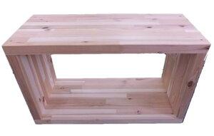 【完成品】国産杉シダーボックス600(外寸)幅600×奥行270×高さ360ミリ。板の厚み30ミリ※組み立ての必要はありません。