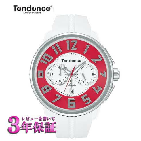 (あす楽)【正規品】TENDENCE GULLIVER テンデンス ガリバー ラウンド クロノグラフ  腕時計 TY046015 [正規輸入品] レッド×シルバー 【送料無料】【楽ギフ_包装】10P02Dec17