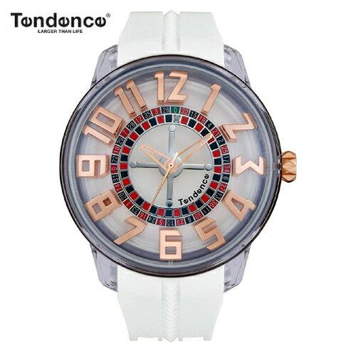 (あす楽) テンデンス Tendence 腕時計 King Dome ホワイト文字盤 TY023003 メンズ 【正規輸入品】3年保証【ルーレット部分がくるくる回転します】【送料無料】【楽ギフ_包装】