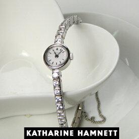 (あす楽)KATHARINE HAMNETT(キャサリン ハムネット) アクセサリーウォッチ  RECTANGLE/KH7013-B04D ホワイトモデル 正規販売店 【新品】【ホワイトデイ】【送料無料】10P04Jun19