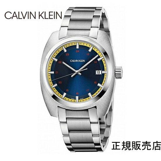 雑誌掲載モデル (正規品/3年保証付き) カルバン クライン アチーブ 腕時計 K8W3114N ブルーダイヤル CALVIN KLEIN Achieve  メンズ 正規品 【送料無料】 【腕時計/刻印名入れ有料】0214Jun18