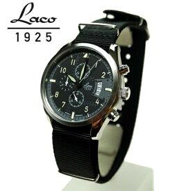 ラコ LACO 腕時計 861917BK デトロイド Detroit 42mm クォーツクロノグラフ 国内正規品 パイロットウォッチ シリーズ