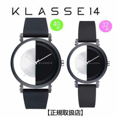 [クラス14]KLASSE14 腕時計 ペアウォッチ Imperfect Black Arch IP Black Case 40mm 32mm ブラックダイヤル (一部透過) IM18BK007M IM18BK007W【正規輸入品】 【楽ギフ_包装】【楽ギフ_のし】