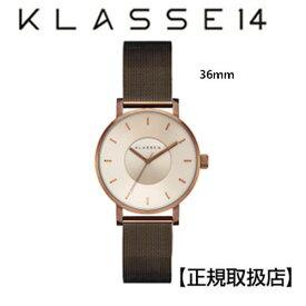 (あす楽)[クラス14]KLASSE14 腕時計 36mm Vintage gold stainless 特別仕様のメタルメッシュバンド  VO18VG002W 【正規輸入品】 【楽ギフ_包装】【楽ギフ_のし】【楽ギフ_のし宛書】【クリスマスプレゼント】