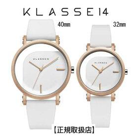 (あす楽)[クラス14]KLASSE14 腕時計 IMPERFECT ANGLE White ペアウォッチ 40mm 32mmホワイトダイヤル (一部透過) WIM19RG009M  WIM19RG009Wステンレスメッシュベルト付き【正規輸入品】7月発売モデル