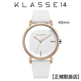 (あす楽)[クラス14]KLASSE14 腕時計 IMPERFECT ANGLE White 40mm ホワイトダイヤル (一部透過) WIM19RG009M ステンレスメッシュベルト付き【正規輸入品】 【楽ギフ_包装】【楽ギフ_のし】【楽ギフ_のし宛書】7月発売モデル