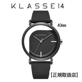 [クラス14]KLASSE14 腕時計 IMPERFECT ANGLE Black 40mm ブラックダイヤル (一部透過) WIM19BK011M ステンレスメッシュベルト付き【正規輸入品】 【楽ギフ_包装】【ホワイトデイ】7月発売モデル