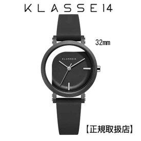 (あす楽)[クラス14]KLASSE14 腕時計 IMPERFECT ANGLE Black 32mm ブラックダイヤル (一部透過) WIM19BK011W ステンレスメッシュベルト付き【正規輸入品】 7月発売モデル