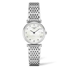 (あす楽)LONGINES ロンジン 腕時計 24mm ラ グラン クラシック ドゥ ロンジン腕時計 L4.209.4.87.6 (レディ-ス)白蝶ホワイト文字盤 ベストセラーモデル【ダイヤモンド12ポイント入り】【送料無料】【名入れ】 L42094876