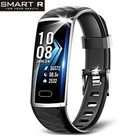 (あす楽)SMART R スマートR スマートウォッチ L8 ブラック メンズ レディース 腕時計 iphone対応 Android対応【国内正規品】【送料無料】【活動量計】【歩数】【距離】【消費カロリー】【心拍】【睡眠モニタリング】【座りすぎ注意】【通知機能】【生理測定】