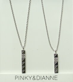 PINKY & DIANNE Silver ピンキー&ダイアン シルバー ペア ネックレス キュービック SV(ロジウムメッキ) VPCPD51539 VPCPD51540【送料無料】