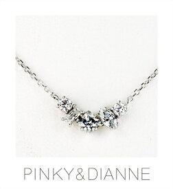 PINKY & DIANNE ネックレス Fancy Line ピンキー&ダイアン ファンシーライン シルバー キュービック SV(ロジウムメッキ)51566【送料無料】