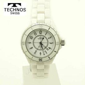 (あす楽)テクノス 腕時計 (TECHNOS) ユニセックス(男女兼用) ホワイトセラミックベルト付 T9438TW 2018日新作モデル  【ホワイトデイ】【送料無料】