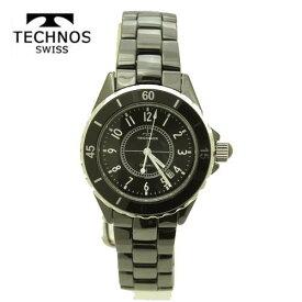 (あす楽)テクノス 腕時計 (TECHNOS) ユニセックス(男女兼用) ブラックセラミックベルト付 T9438TB 2018日新作モデル  【RCP】【送料無料】