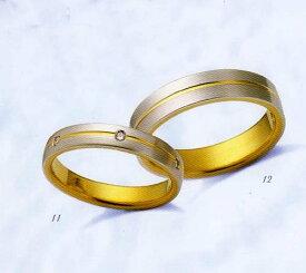 LANVIN (ランバン 指輪) La vie en bleu 結婚指輪 マリッジ リング  コンビダイヤモンド入り(左側) 【楽ギフ_包装】【楽ギフ_のし】【楽ギフ_メッセ入力】【楽ギフ_名入れ】【smtb-kd】【RCP】【送料無料】05P04Jun19
