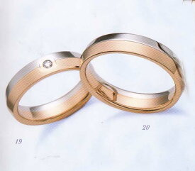 LANVIN (ランバン指輪) La vie en bleu 結婚指輪 マリッジ リング  PGダイヤモンド入り(左側)【smtb-kd】【RCP】【送料無料】【名入れ】【のし宛書】【包装】【メッセ入力】【オーダー品納期約1ヶ月】