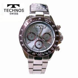 (あす楽)テクノス(TECHNOS)腕時計  クロノグラフ 10気圧防水 T4251AI アイスブルー【父の日】【最安値挑戦】【送料無料】【ギフト】【ホワイトデイ】