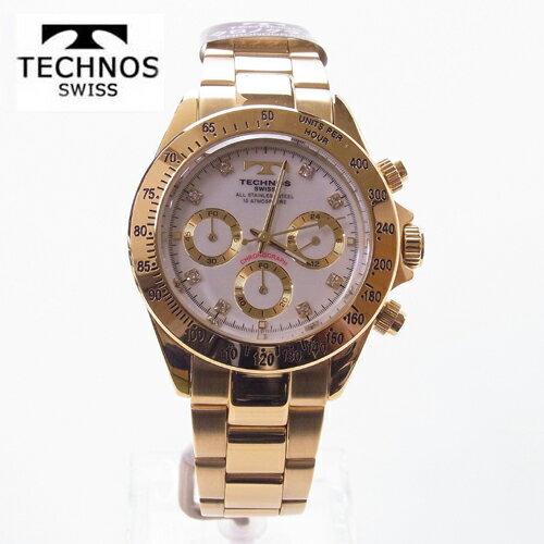(あす楽) テクノス(TECHNOS)腕時計  クロノグラフ 10気圧防水 TGM639GW 【RCP】【最安値挑戦】【送料無料】【楽ギフ_包装】【送料無料】