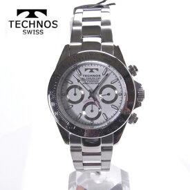 テクノス(TECHNOS)腕時計  クロノグラフ 10気圧防水 TSM401SW【RCP】【最安値挑戦】【送料無料】【楽ギフ_包装】【クリスマス】02P04Jun19