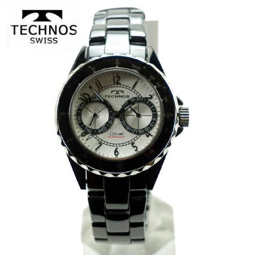 (あす楽)テクノス 腕時計 (TECHNOS) メンズ ホワイトセラミックベルト付 T9548TS 2017新作モデル  【RCP】【02P04Sep18】【送料無料】
