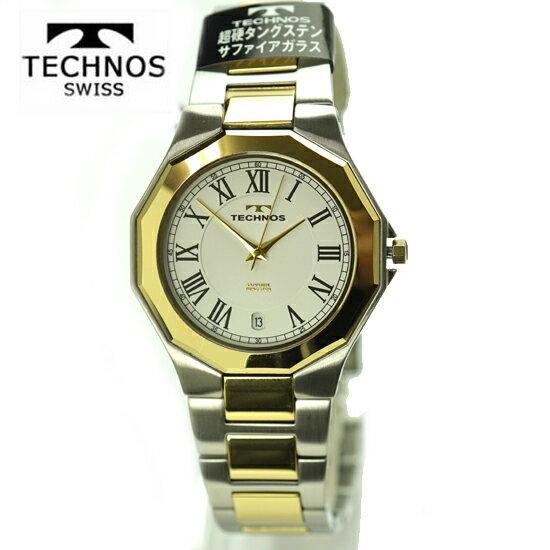 (あす楽) テクノス(TECHNOS) 腕時計 3気圧防水 T9624TW サファイアガラス  最新モデル【RCP】【最安値挑戦】【送料無料】【楽ギフ_包装】02P04Sep18\86,400