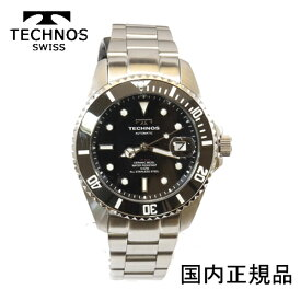 (あす楽)テクノス 腕時計 (TECHNOS) セラミックベゼル 自動巻き 10気圧防水 (正規品) T4A82SB メンズ裏スケルトン【RCP】【最安値挑戦】【送料無料】【楽ギフ_包装】