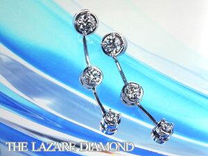 【THELAZAREDIAMOND】ラザールダイヤモンドスリーストーンピアス予約受付中トリノで輝いていたあの女性もつけていました。